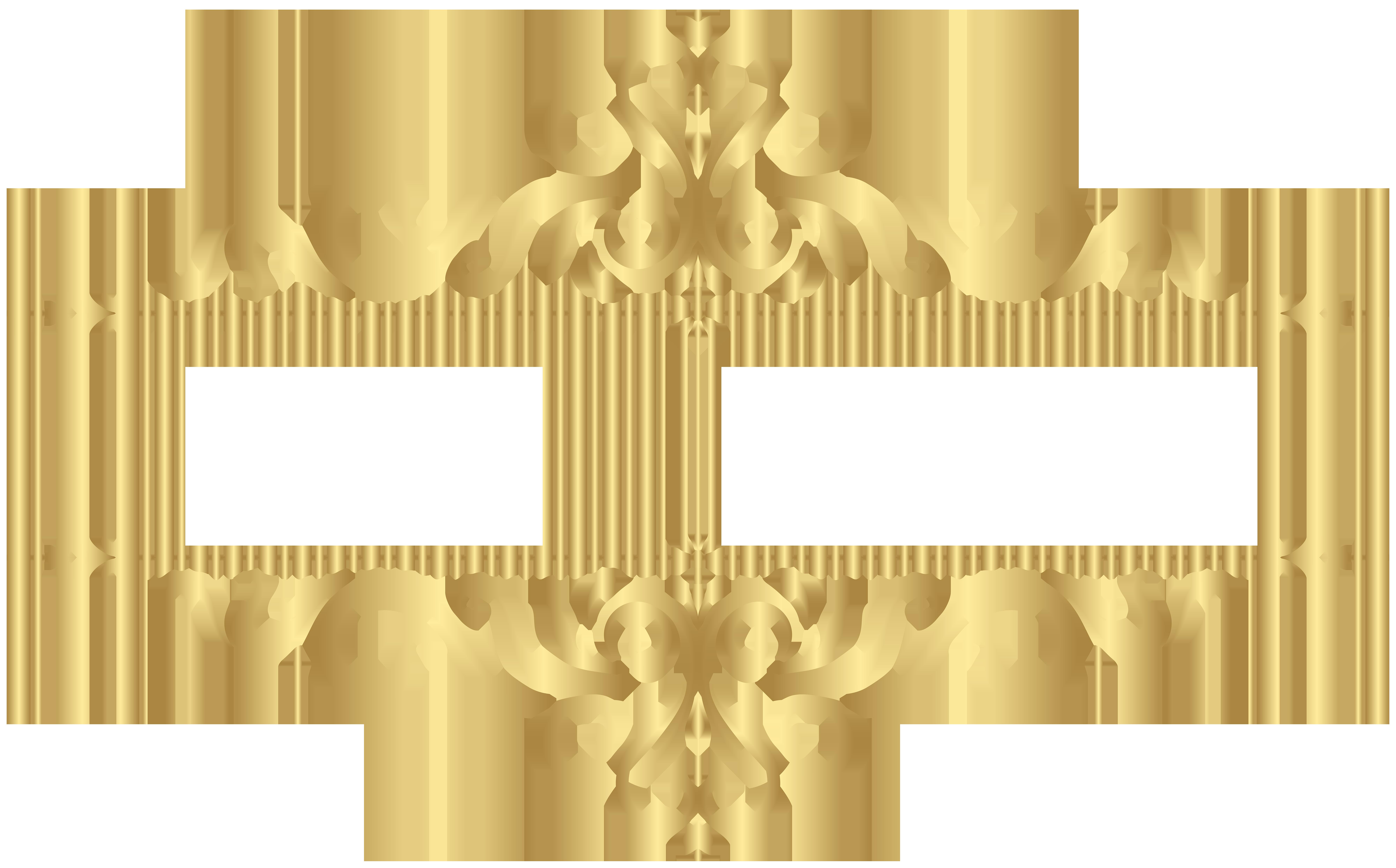 Golden Ornament PNG Clip Art Image Logotipo salão de