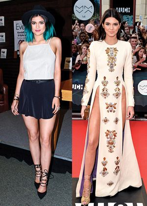 Princess vs. Punk: Kylie and Kendall Jenner Fashion Face-Off - http://www.flare.com/celebrity/kylie-and-kendall-jenner-fashion-face-off/