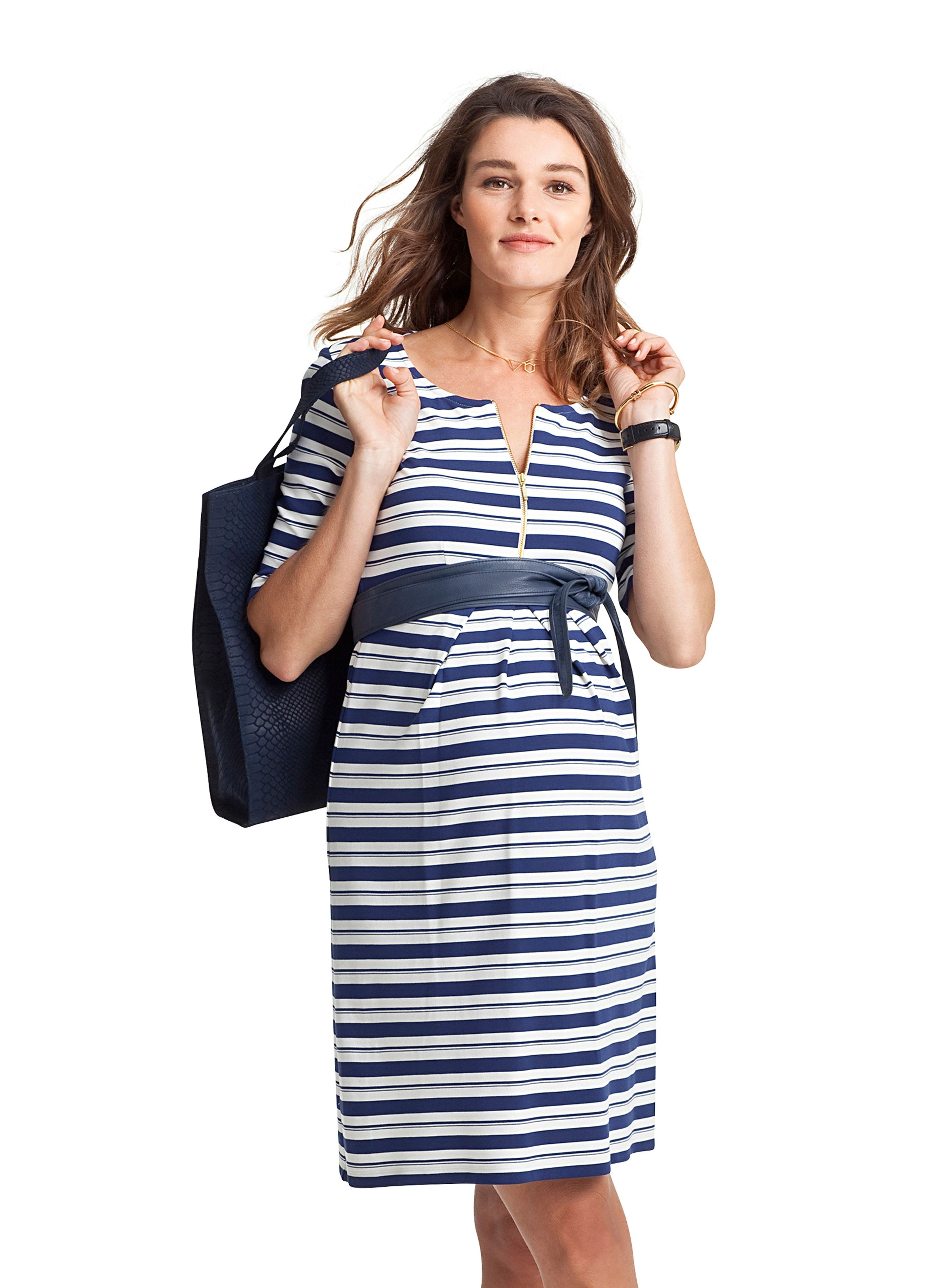8afeaf8fa9 Blue Beaumont Striped Maternity Dress