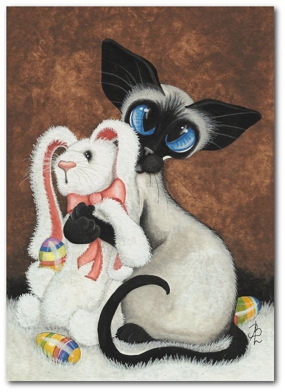 Открытки кроликом котом, днем рождения бабе