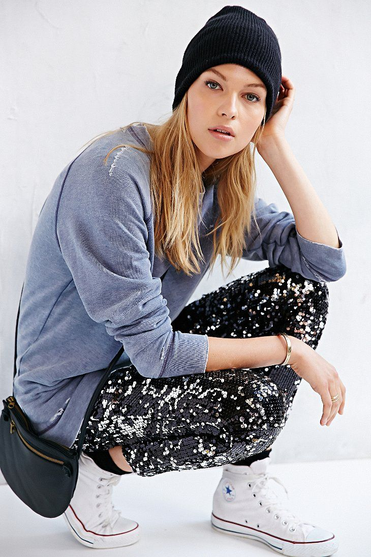 Silence + Noise Sequin Pant...holiday wear