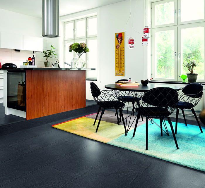 Pergo Living Expression Charcoal Slate Laminate Flooring