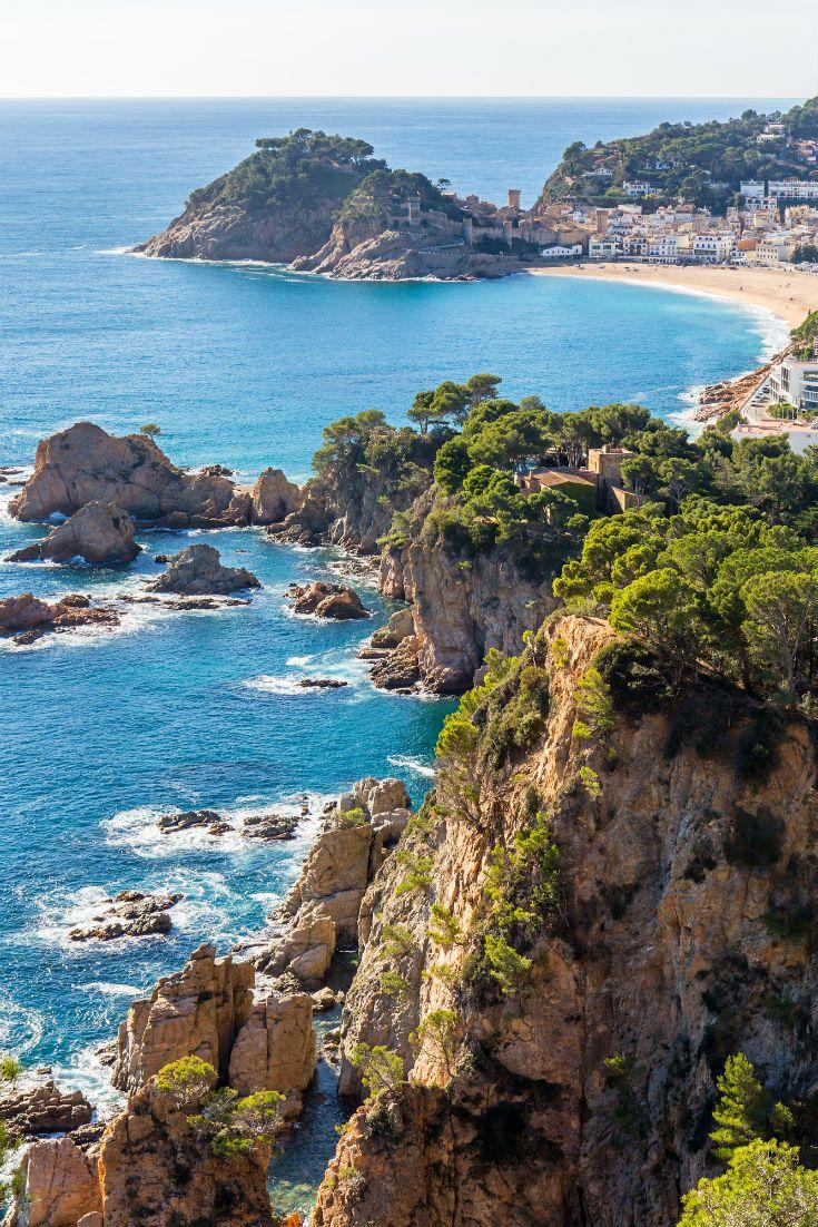 Beautiful Coast Of Tossa De Mar In Costa Brava Spain