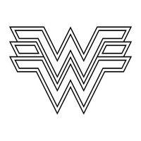 desenho de símbolo da mulher maravilha para colorir projetos para