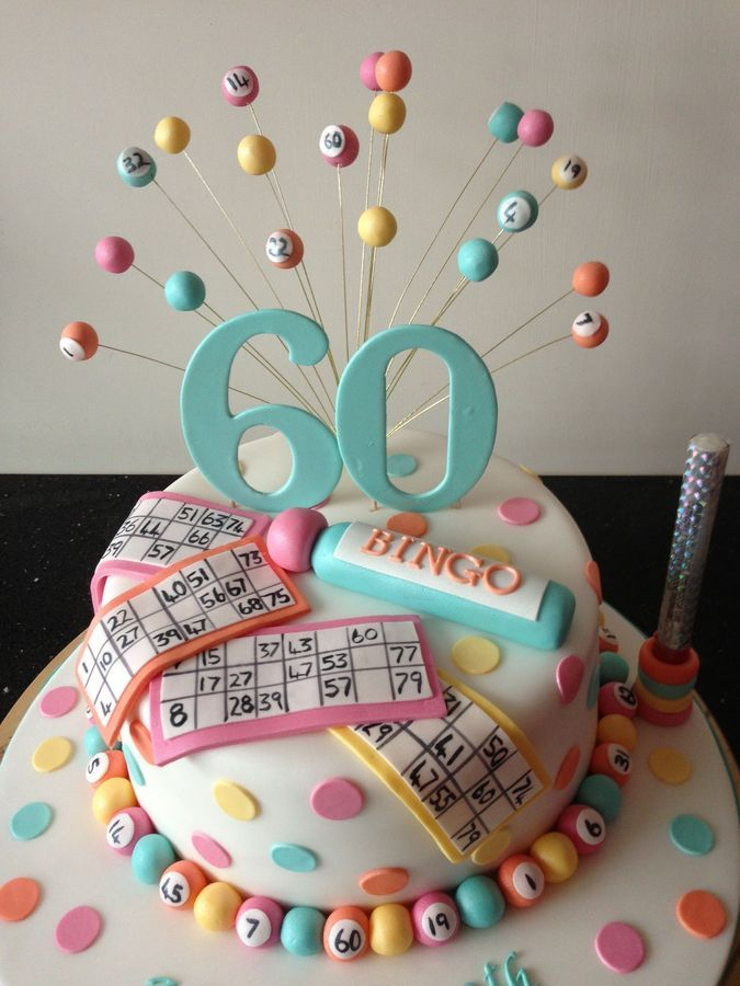 A deliciouslooking cake for the ultimate bingo fan I think I