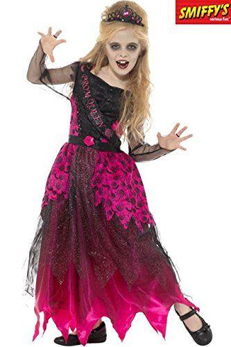 Smiffy\'s 48136M - Kinder Mädchen Deluxe Gothic Ball Königin Kostüm ...