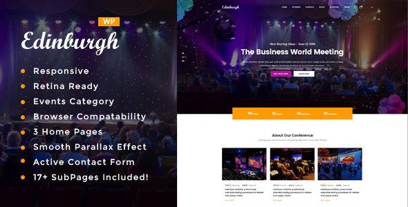 wordpress events themes