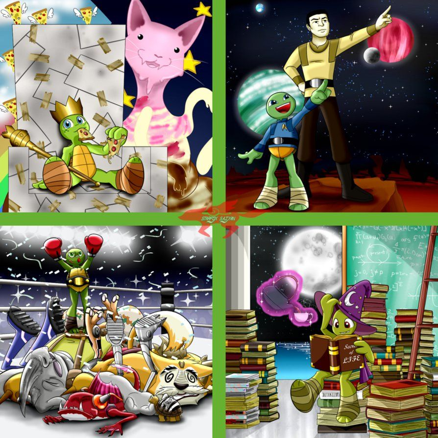 Teenage Mutant Ninja Turtles, Raphael, Leonardo, Michelangelo, Donatello Nickelodeon ©