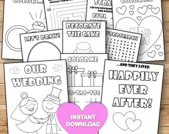 Wedding Kids Activity Book And Coloring