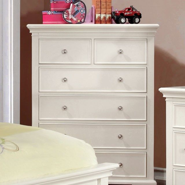 """Chest Pine Mullan Collection CM7943WH-C $434  SKU : CM7943WH-C  Style :Transitional Color/Finish : White Material : Solid Woodr & Others Dimensions : 33 3/8""""W X 17""""D X 46""""H"""