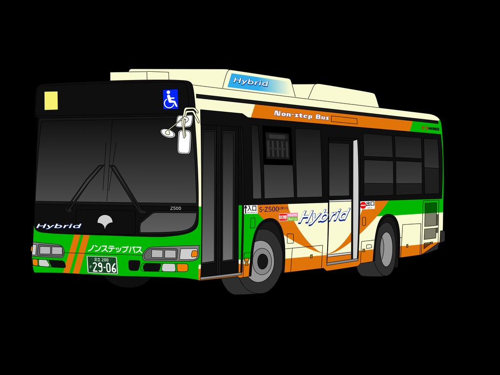 2018 年の「都営バス s-z500 ブルーリボンシティハイブリッド | イラスト