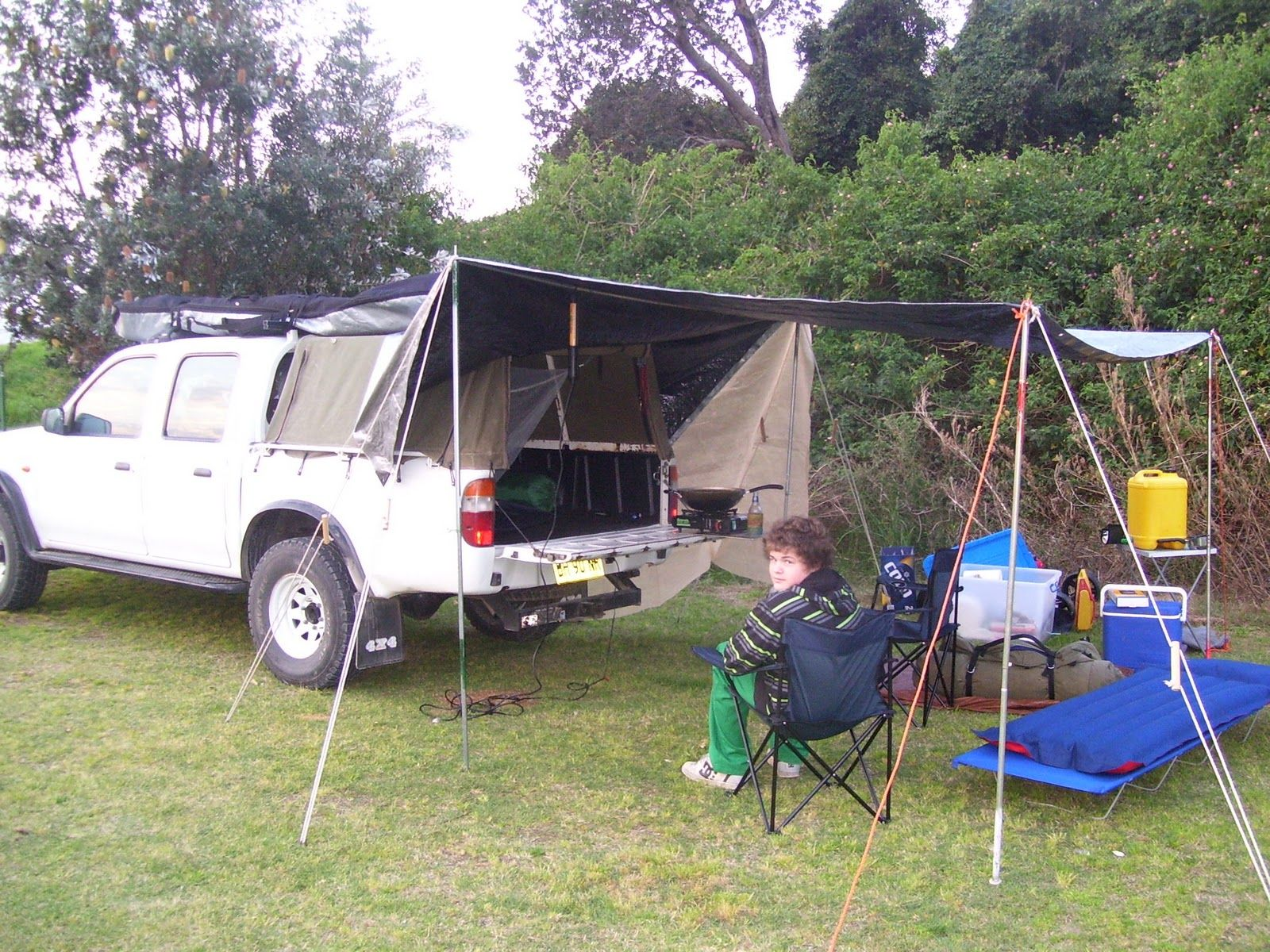 Tarp Camping Set Up