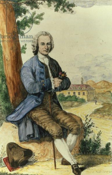 Jean-Jacques Rousseau (1712-78), philosopher and herbalist