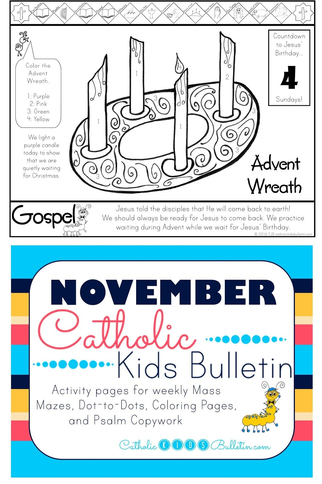 Catholic Kids Bulletin Weekly Mass Prep for Kids Matthew 24 37