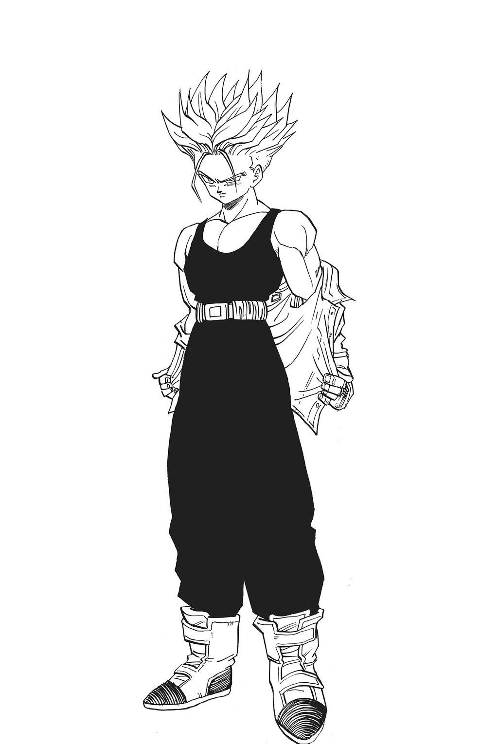 Super saiyan future trunks the purple haired man from - Dessin de dragon ball ...