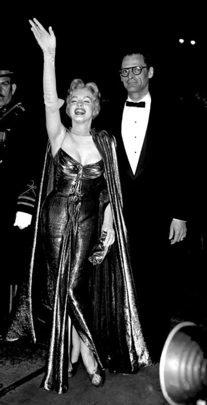 Marilyn Monroe And Arthur Miller At The Royal Film Premiere Of The
