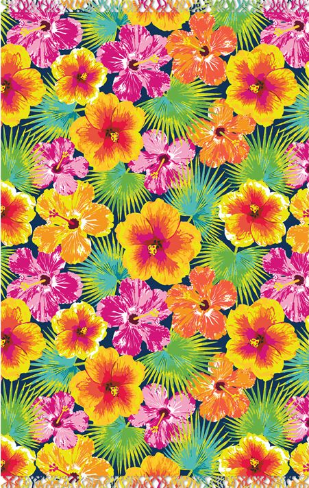 Pattern n°21 hawaiian flowers Iphone wallpaper