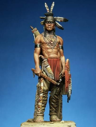 This bronze statue,Black Foot Warrior. | Native American ...