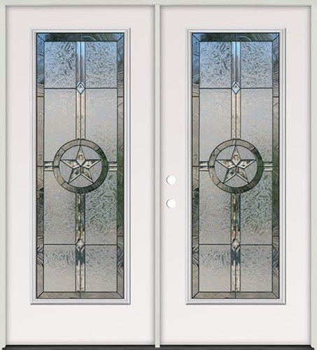 Patio Doors Austin Tx: Texas Star Full Lite Steel Prehung Double Door Unit #90