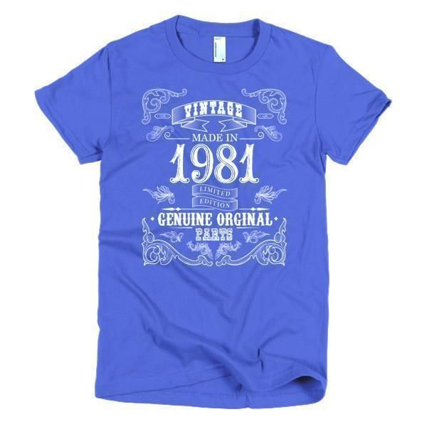Women's Born in 1981 37 years old T-shirt
