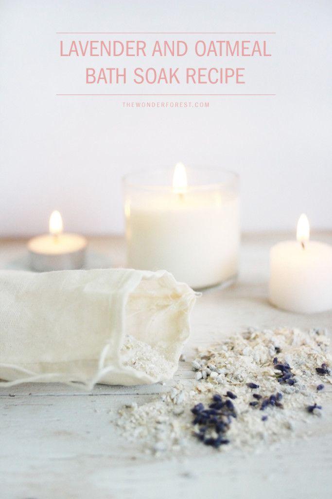Homemade Lavender and Oatmeal Bath Soak Recipe | Oatmeal bath, Bath ...