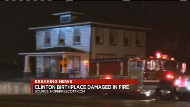 Запаљена родна кућа Била Клинтона  Родна кућа бившег америчког предсједника Била Клинтона у Хопеу у држави Арканзасу оштећена је данас у пожару за који се сумња да је подметнут, објавила је полиција.У поменутој кући живео до 4. године: Бил Клинтон Пожар је избио