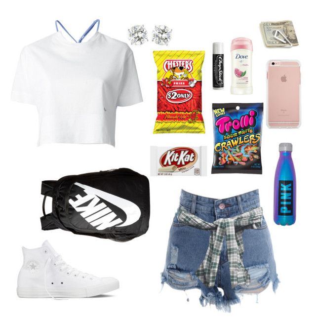 """Kings Island all summer 17"" by ahriraine ❤ liked on Polyvore featuring Converse, NIKE, Crate and Barrel, Dove, Chapstick, prAna, Dsquared2 and Seafolly"