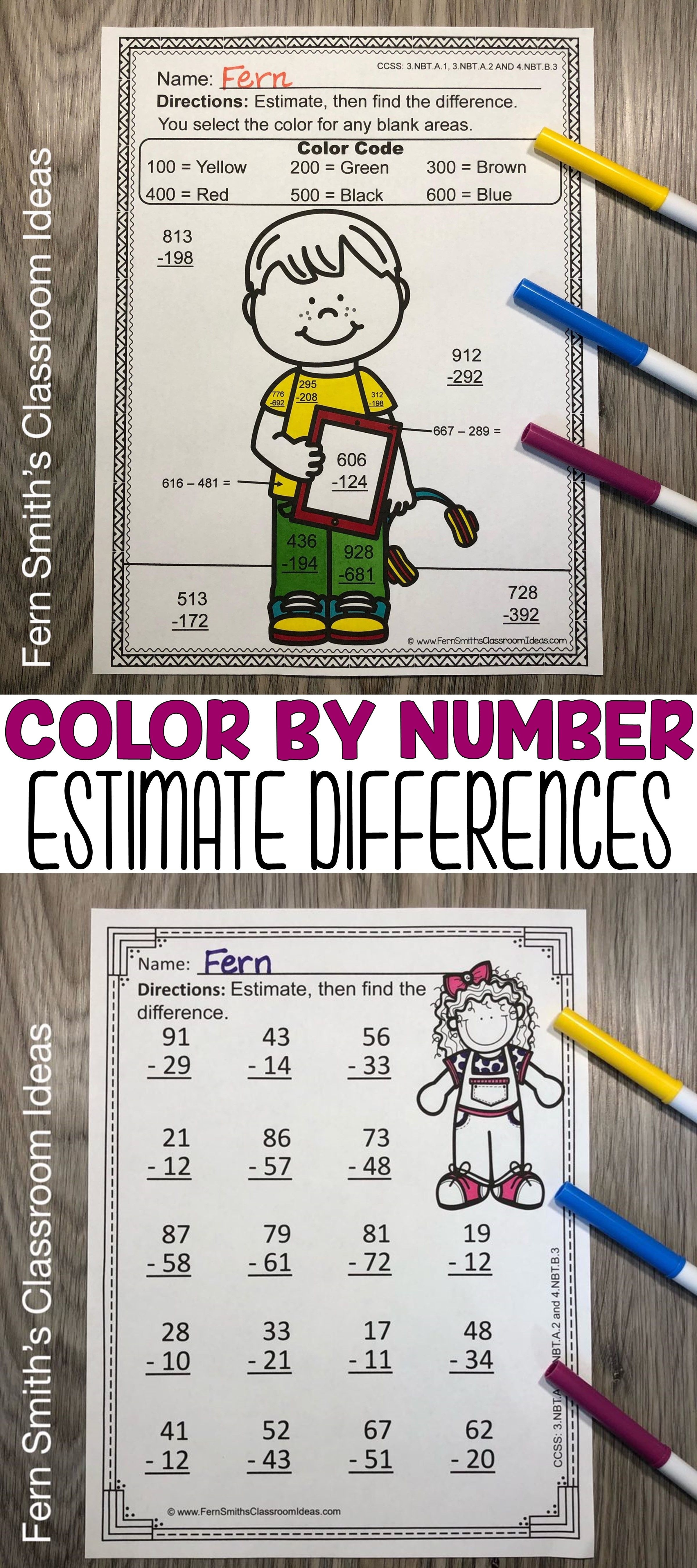 Are You Getting Ready To Start Teaching How To Estimate Differences In 2020 Time Worksheets 3rd Grade Math Third Grade Math