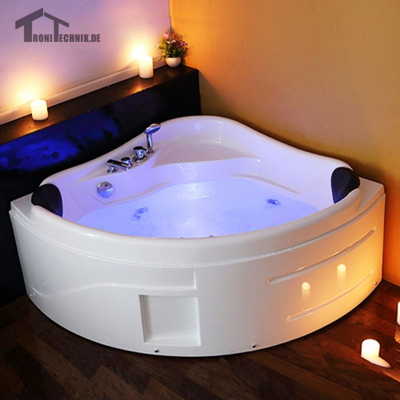 1300mm Spa Massage Wall Corner Bathtub freestanding whirlpool Glass ...
