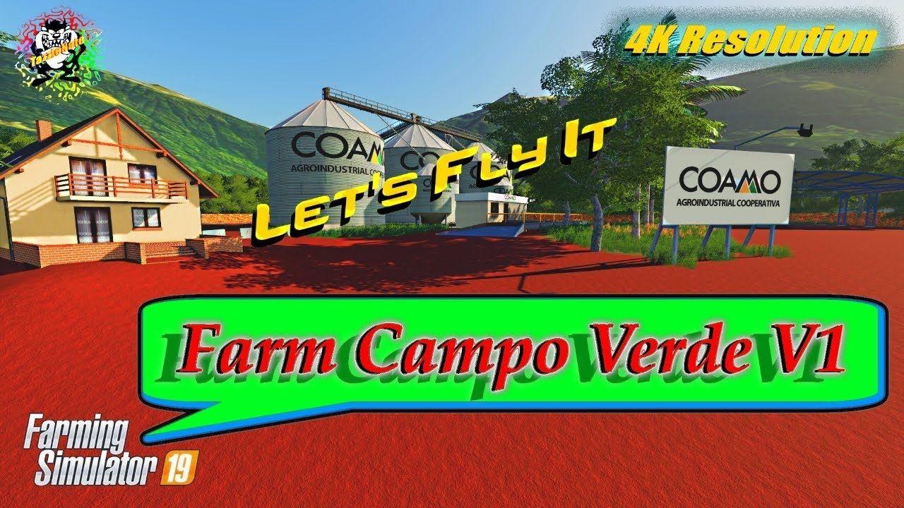 Fs-19Farm Campo Verdein 4K Resolution Farming Simulator-19Farm Campo