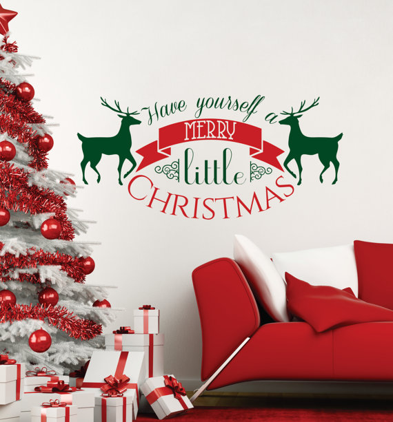 Merry Christmas Vinyl Art Home Window Store Wall Stickers Decal Decor Removables