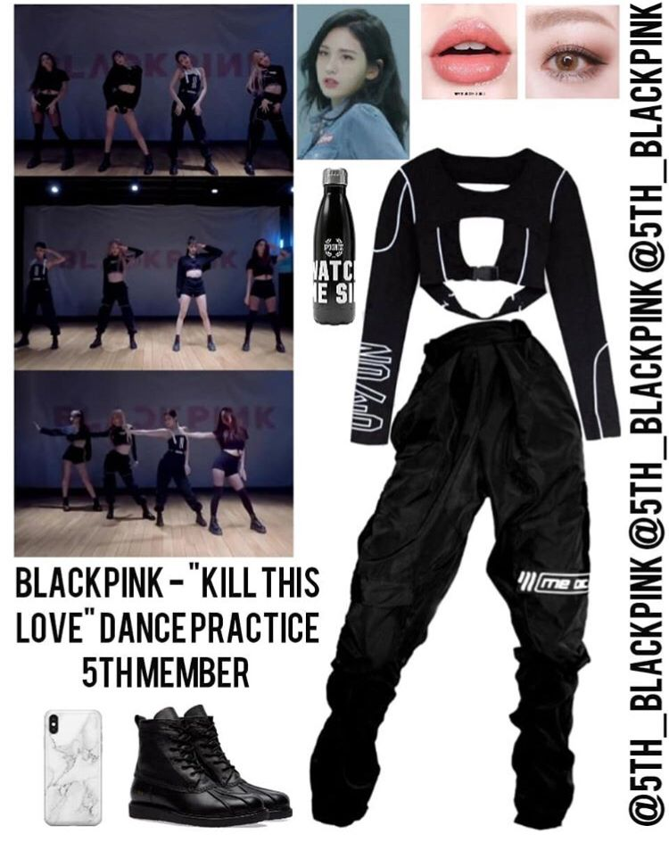 Blackpink Kill This Love Dance Practice Dance Outfits Practice Practice Outfits Kpop Fashion Outfits