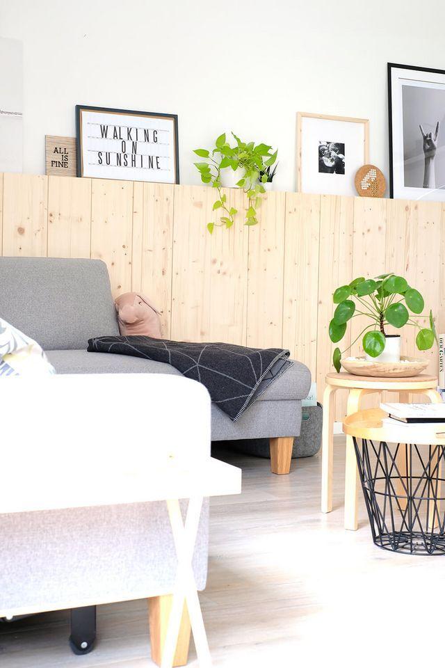 DIY Holzwand #skandinavischwohnen