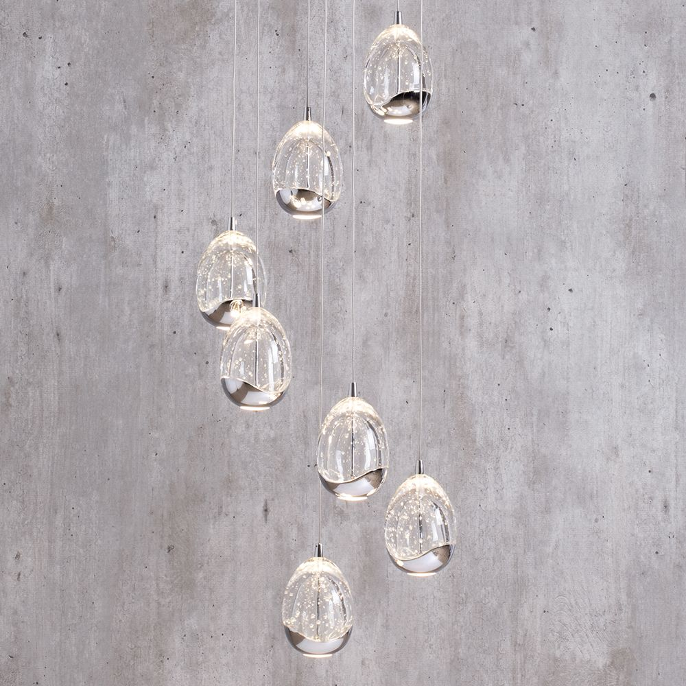 Statement ceiling lighting wow factor lighting pinterest light bulla pendant ceiling 7 light led spiral cluster chrome from litecraft mozeypictures Image collections