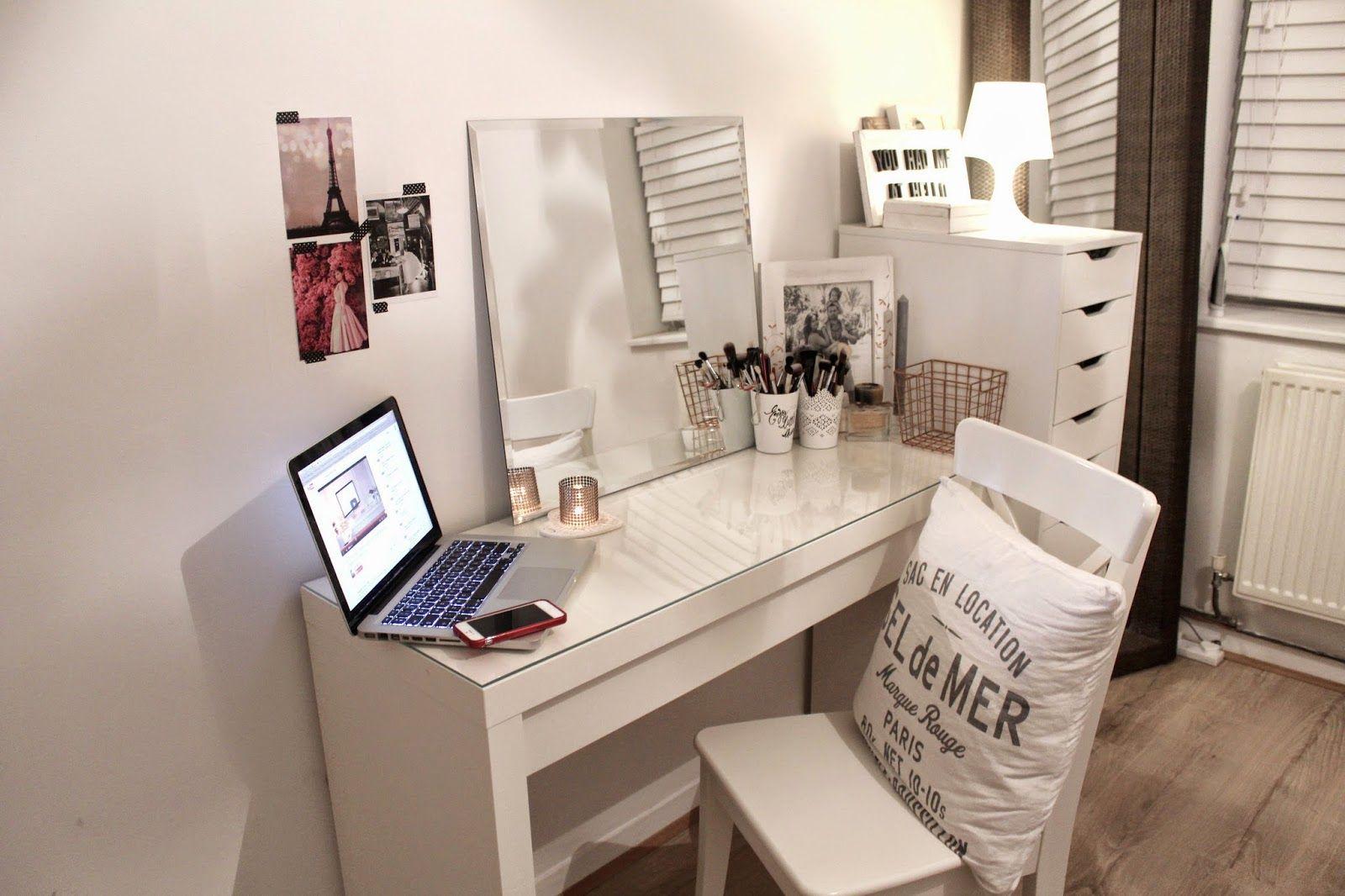 My Ikea Bedroom With Alex Drawers Google Search Malm Dressing Table Ikea Malm Dressing Table Minimalist Bedroom Decor