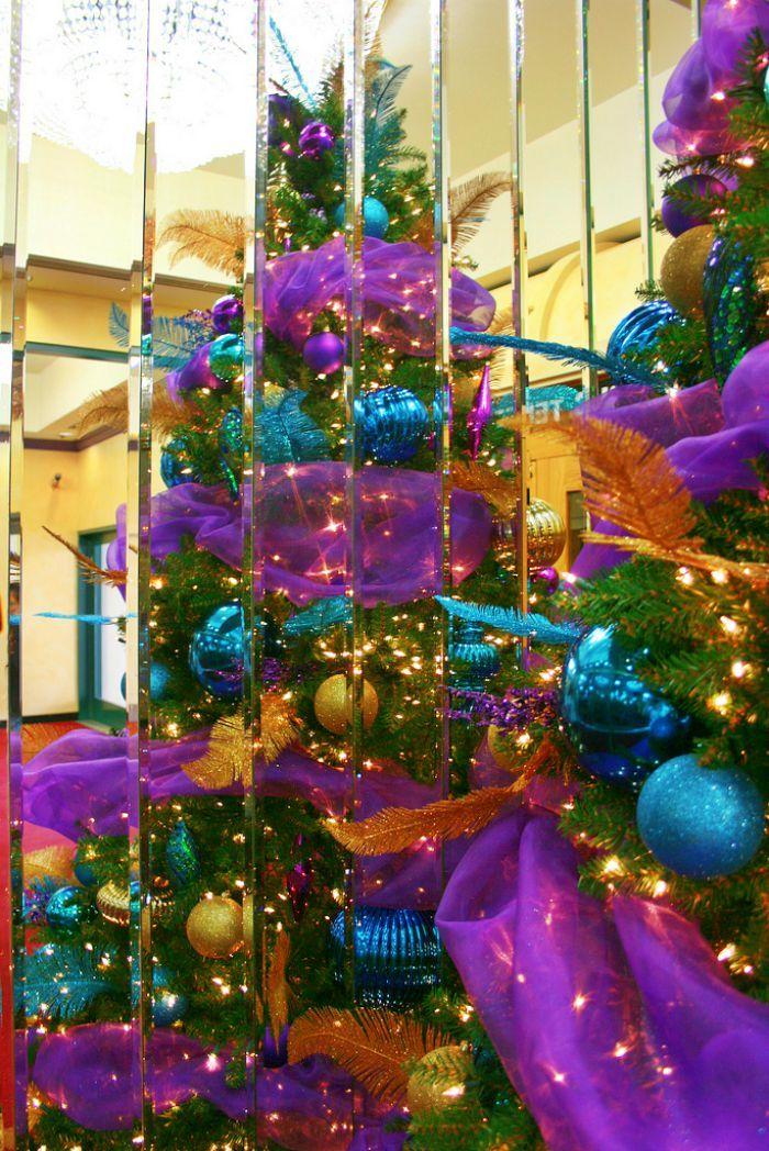 Purple Christmas tree-Flickr It\u0027s beginning to look a lot like - peacock christmas decorations