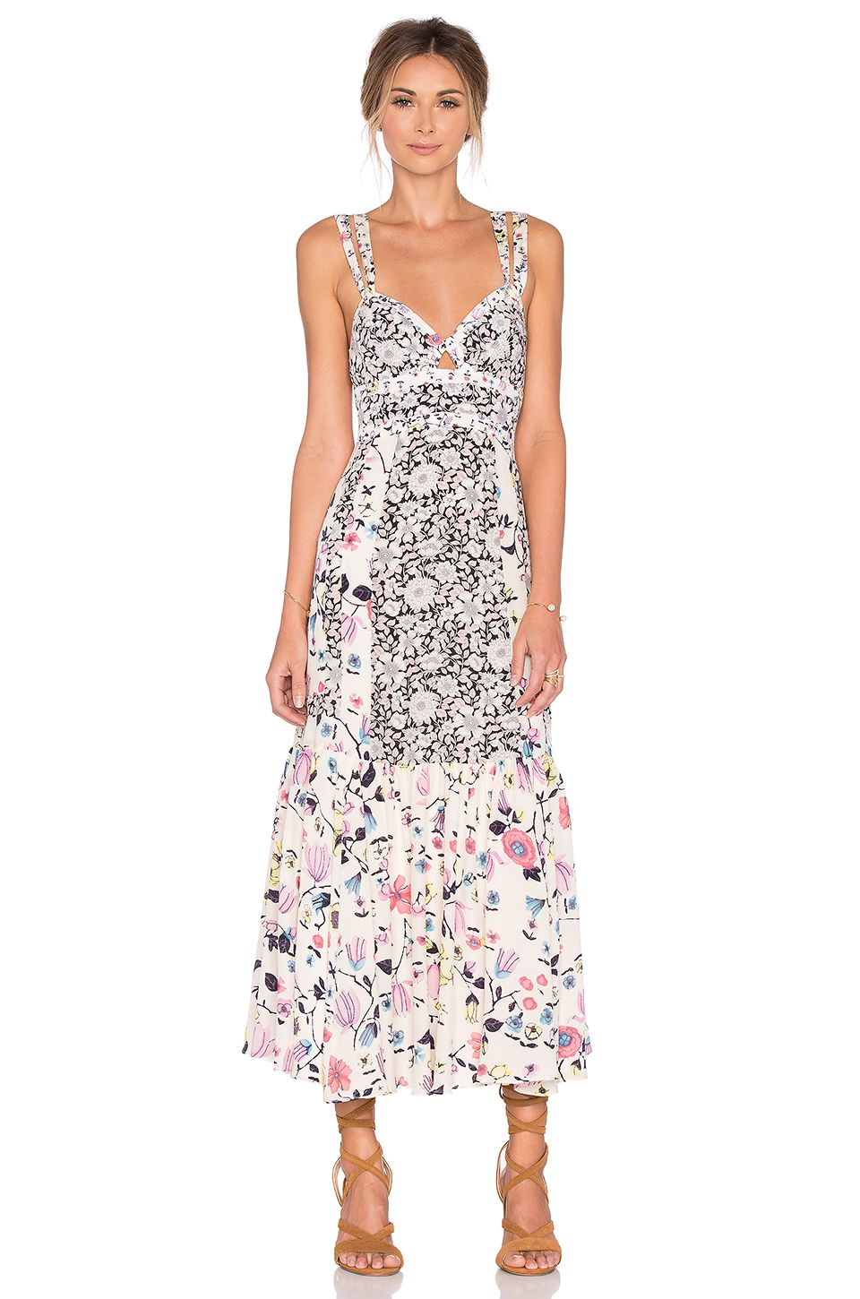 For Rebecca Taylor Sleeveless Tapestry Garden Dress In Creamsicle At Revolve Free Day Shipping And Returns 30 Price Match Guarantee