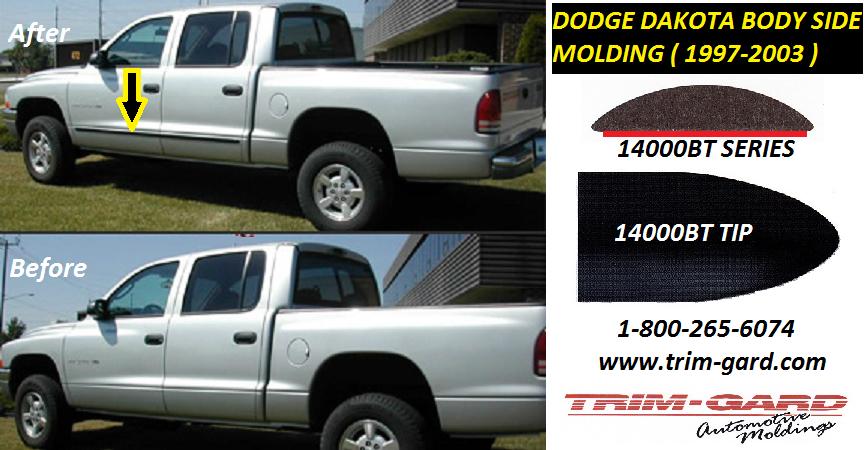1997 1998 1999 2000 2001 2002 2003 Dodge Dakota Body Side Molding Trim Gard Manufacturers The Dodge Dakota Body Side Moldin Moldings And Trim Foam Tape Tips