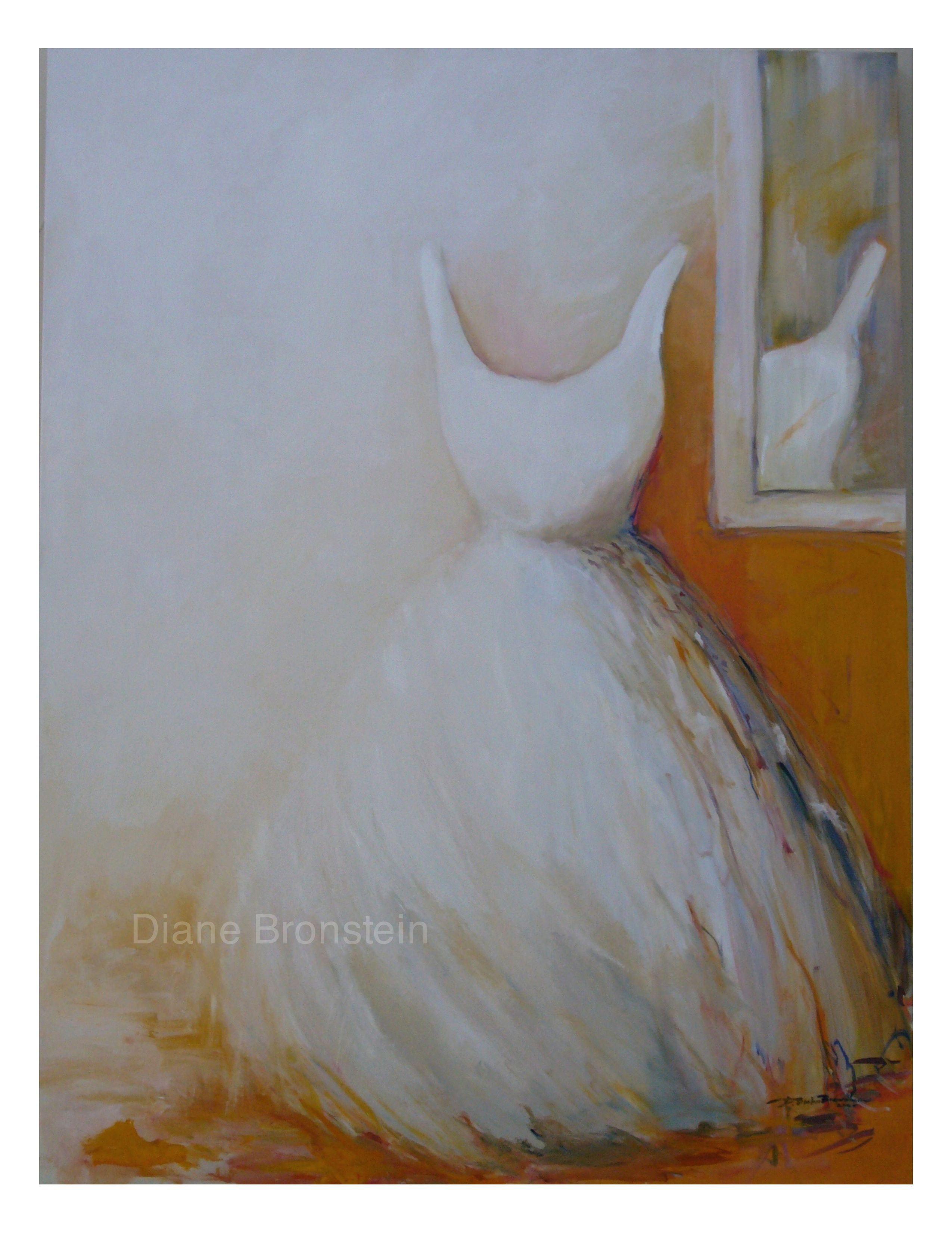 Oil Painting Of A White Wedding Dress By Diane P Bronstein With