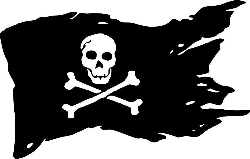 Pirates Flag Sticker By Ares286 In 2021 Flag Art Pirate Flag Flag Drawing
