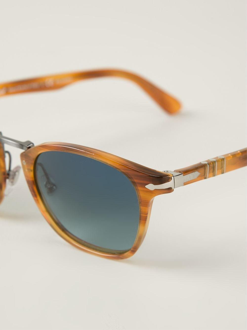 1c172bbf5fc97 PERSOL Rectangular-shaped Sunglasses