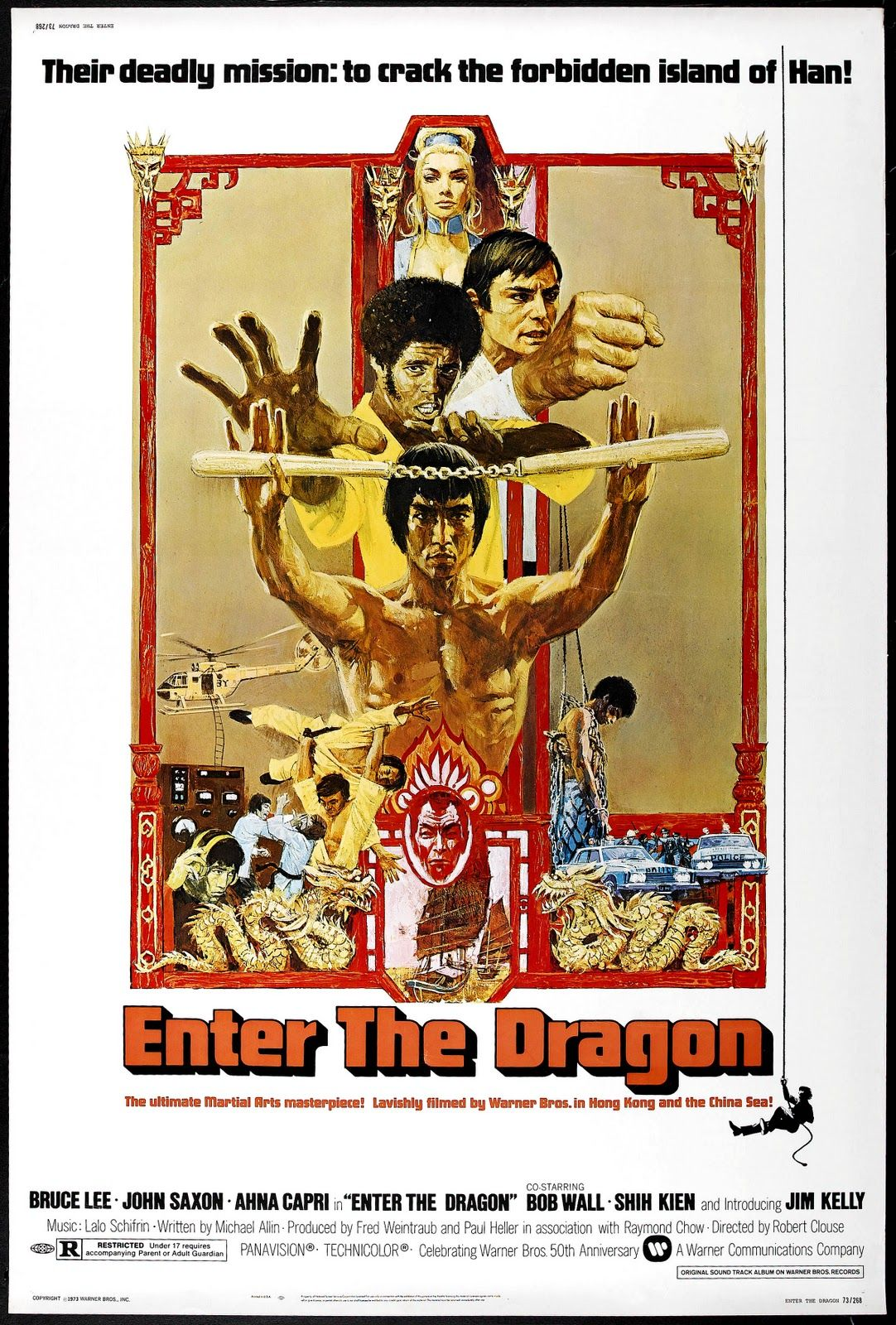 70s movie posters enter the dragon bruce lee movie