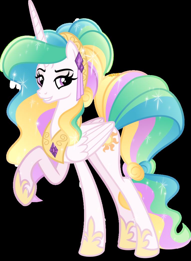 Crystal princess celestia no crystal by orin331 mlp my little pony princess celestia - Princesse poney ...