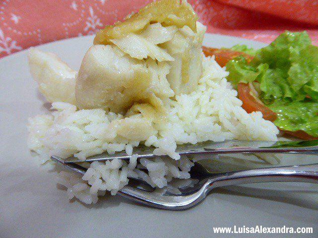 Arroz Basmati Brajma Cigala com Perca do Nilo Dourada em Azeite e Alho - http://gostinhos.com/arroz-basmati-brajma-cigala-com-perca-do-nilo-dourada-em-azeite-e-alho/