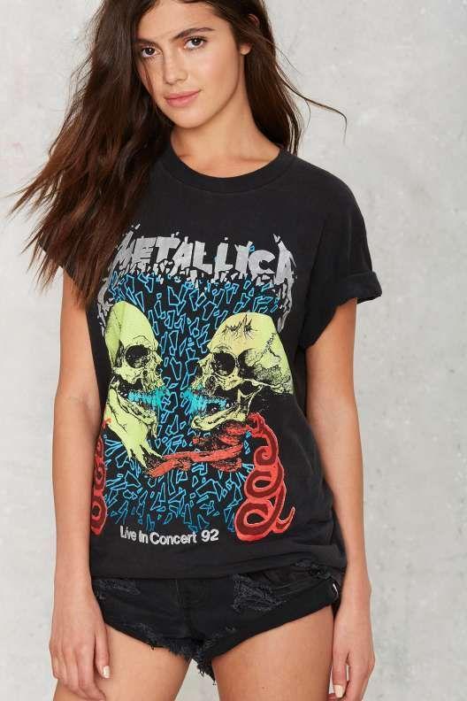 Vintage Metallica Rulz! '92 Tour Tee || Shop New #NastyGal #Vintage Now: http://www.nastygal.com/vintage?utm_source=pinterest&utm_medium=smm&utm_term=nasty_gal_vintage&utm_campaign=new_arrivals