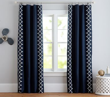Nautical Knots Blackout Curtain Panel Cool Curtains Pink Bedroom Decor Home Curtains