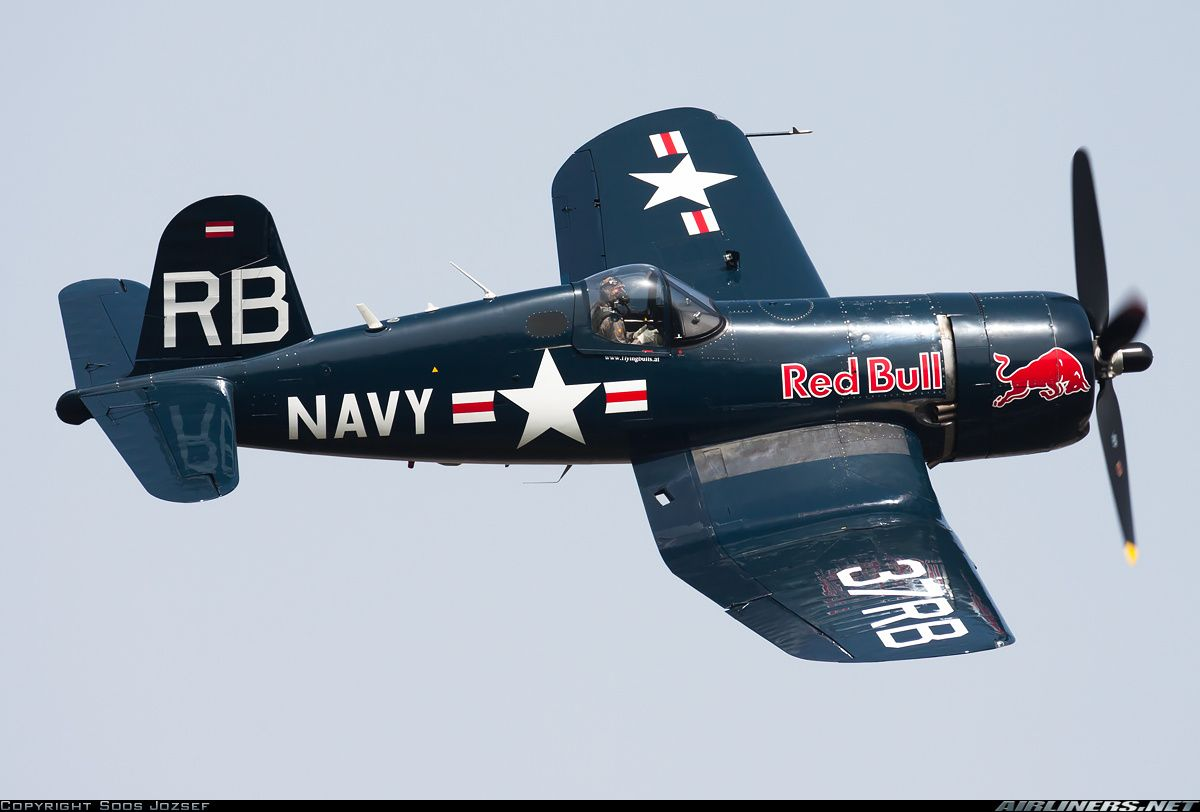 Red Bull (The Flying Bulls) Vought F4U-4 Corsair  Off-Airport - Budapest Hungary, May 1, 2013