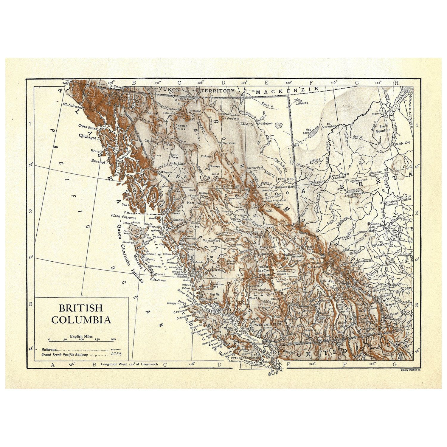 Canada British Columbia Instant Download Pre World War I Antique