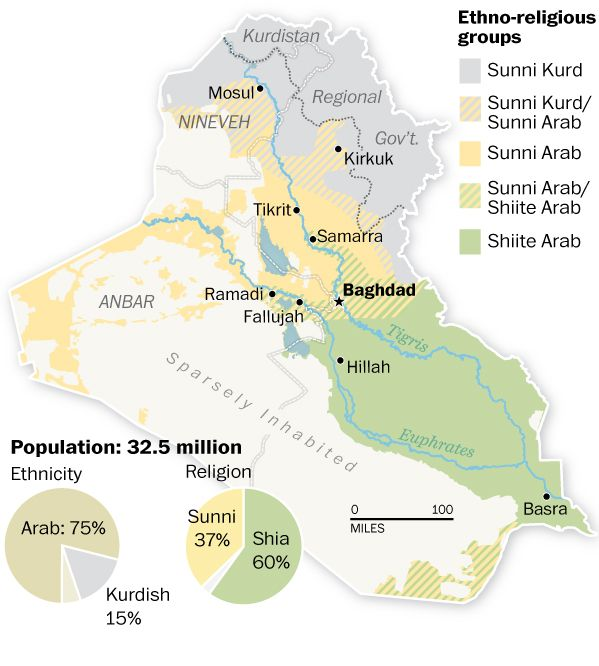 Ethnoreligious Map Of Iraq Kurdistan Pinterest Kurdistan - Religion map of world 2014