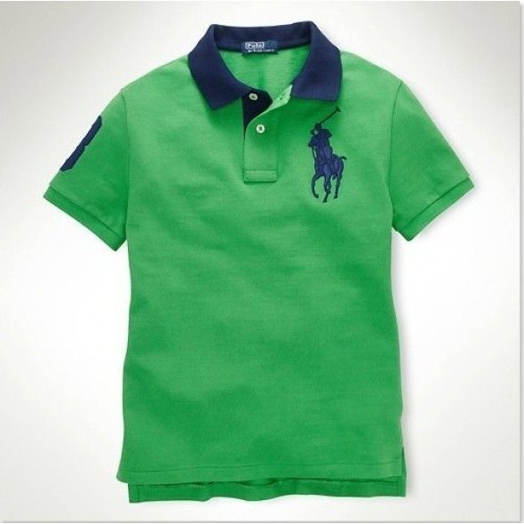 Ralph Lauren Men Darkgreen Yellow Big Pony Polo